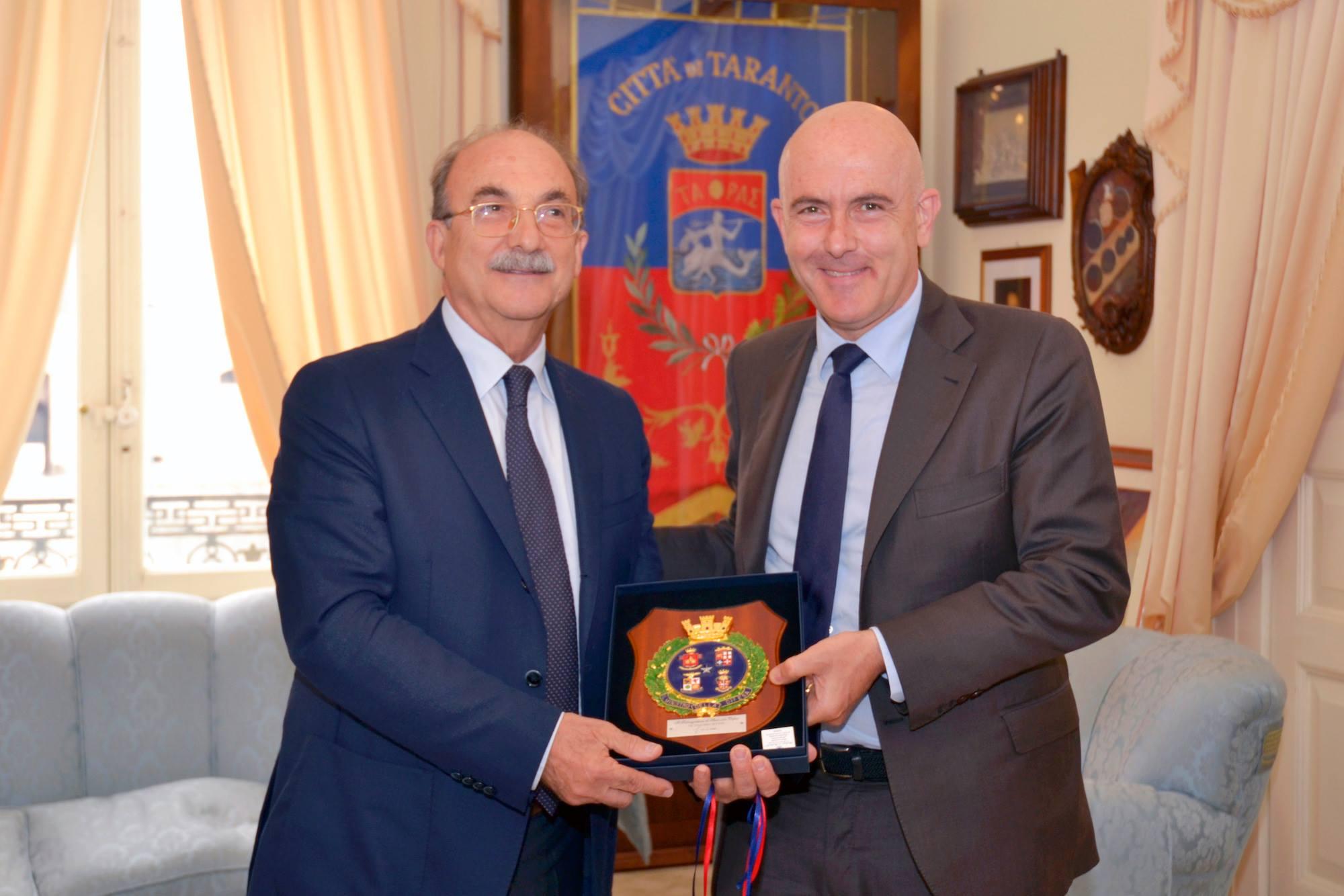 Gioacchino Alfano Inaugurazione centro sportivo marina Militare Taranto