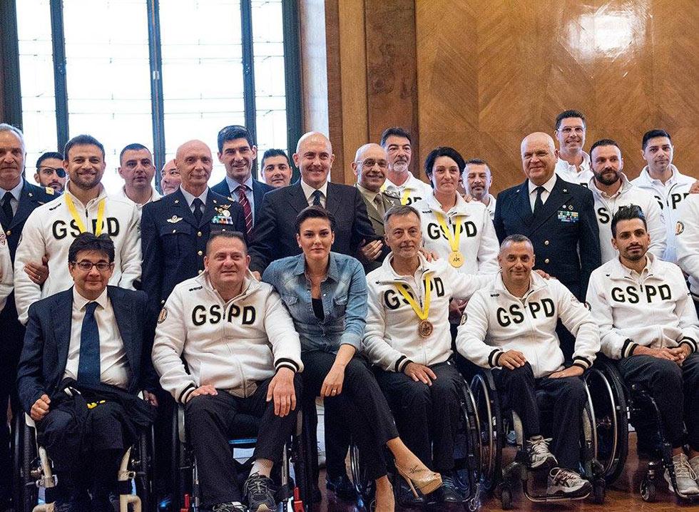 Il saluto agli atleti del GSPD rientrati da Orlando 2