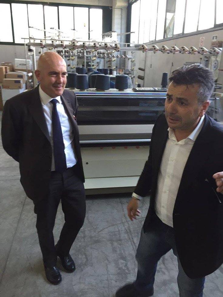 Visita realta produttiva Gioacchino Alfano