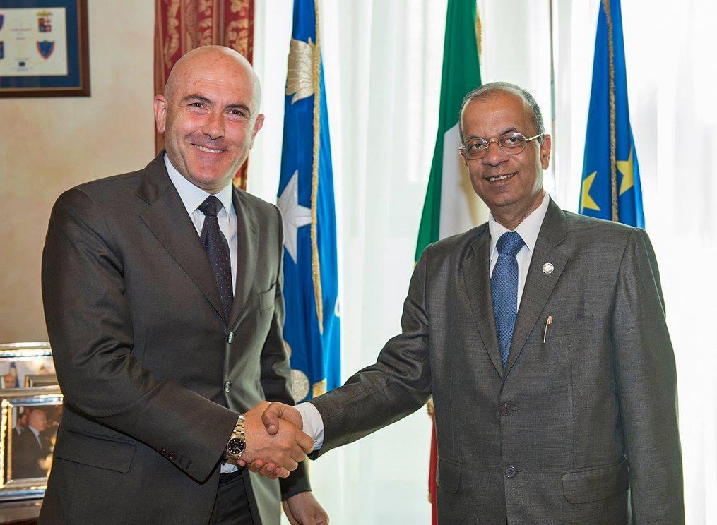 incontro sottodsegretario generale nazioni unite Gioacchino Alfano