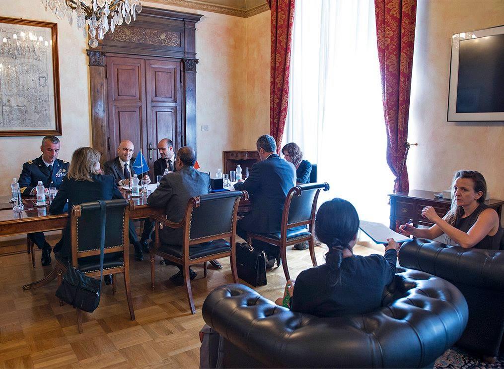 incontro sottosegretario generale ONU e Gioacchino Alfano