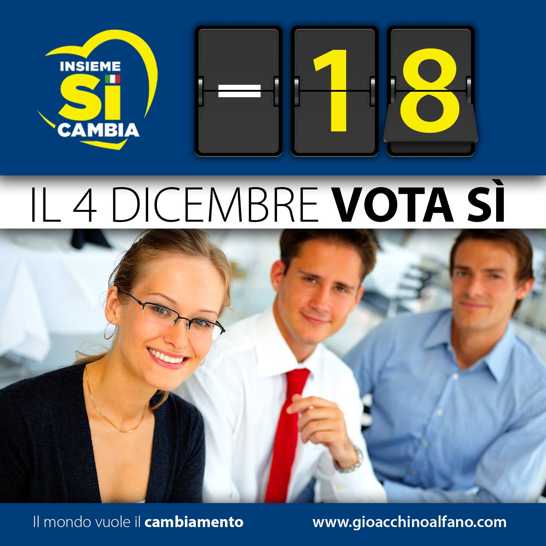 meno 18 giorno referendum