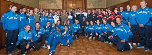 Gioacchino Alfano Incontro con atleti militari olimpici